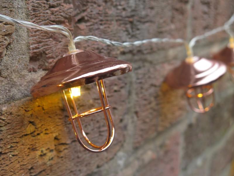 Copper Lantern String Lights Lavender and Leeks