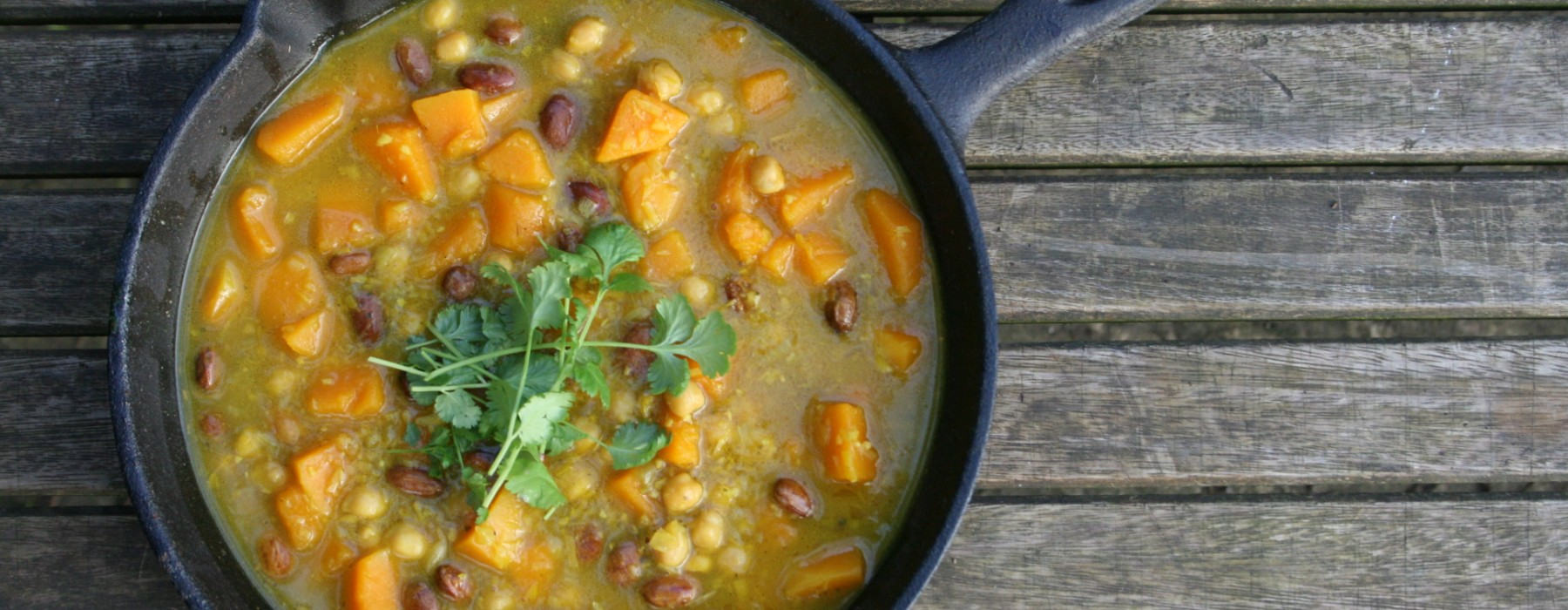 Butternut Squash and Bean Curry