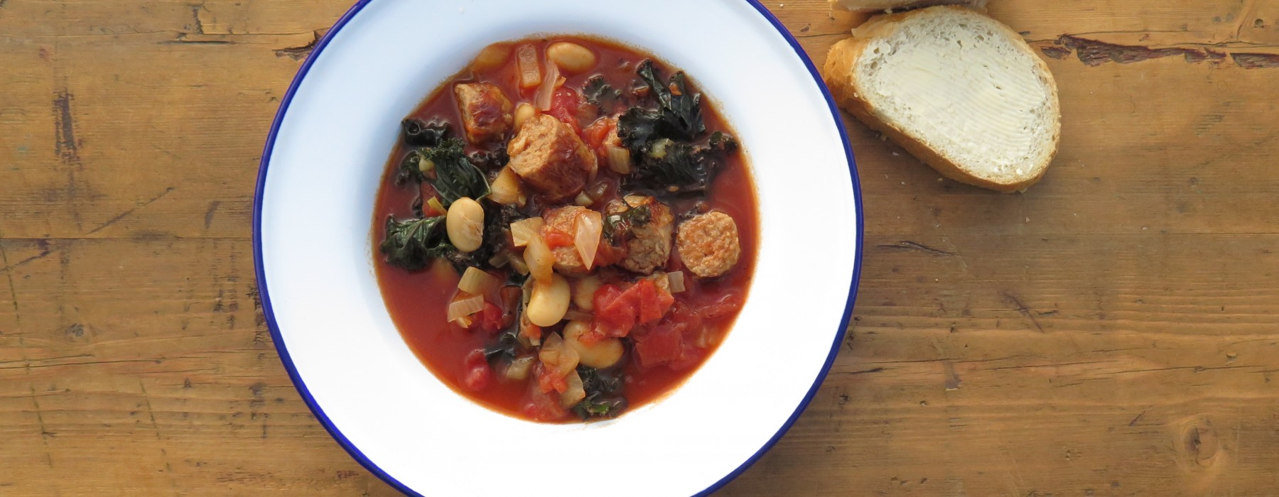 Sausage, Butterbean and Kale Casserole