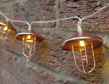 Copper Lantern String Lights