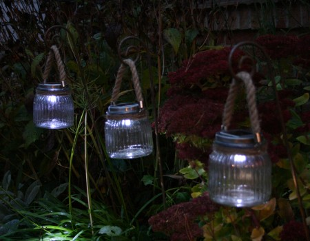 Solar Panel Glass Jar Lantern