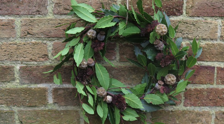 A Handmade and Homegrown Wreath