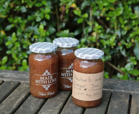 Rhubarb and Ginger Jam