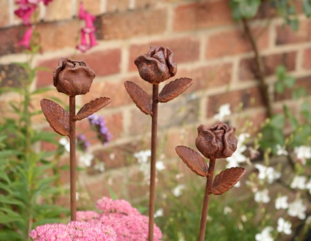 Metal Rose Buds