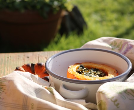 The Allotment Kitchen – Roasted Munchkin Pumpkin