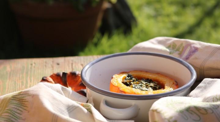 The Allotment Kitchen – Roasted Munchkin Pumpkin