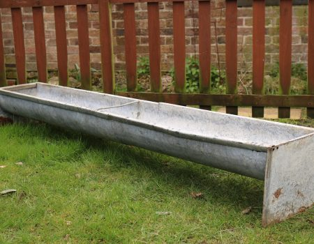 Vintage Galvanised Feed Trough