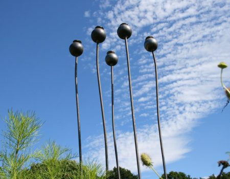Extra Large Metal Poppy Seed Heads