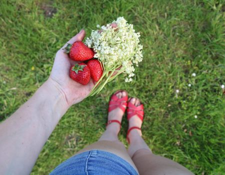 Strawberry and Elderflower Cordial