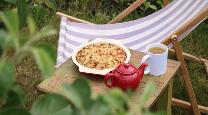 The Allotment Kitchen – Rhubarb Crumble Cake