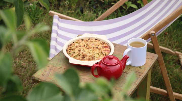 The Allotment Kitchen – Rhubarb Crumble Cake