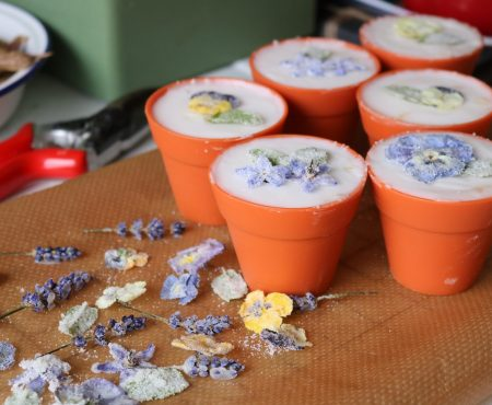 Crystallised Edible Flower Cupcakes