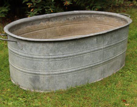 Straight edged oval tub #3