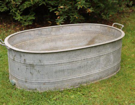 Straight edged oval tub #4