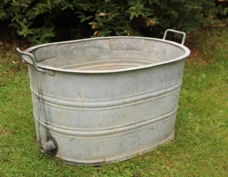 Straight edged oval tub #5