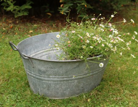 Small Galvanised Bath Tub #17