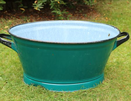 Teal Enamel Tub #18