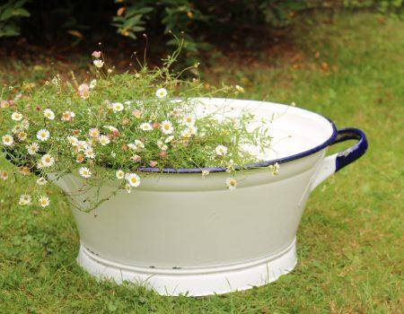 Small White Enamel Tub #21