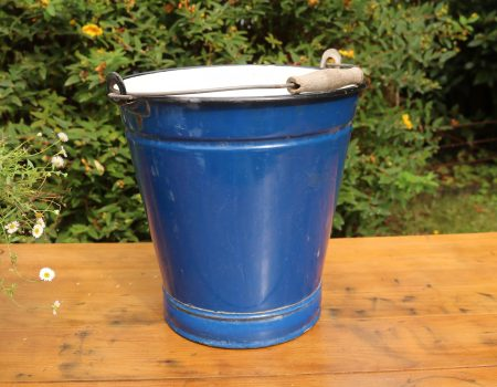Blue Enamel Bucket #2