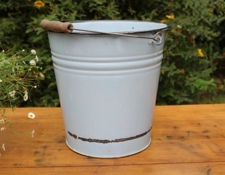 Light Blue Enamel Bucket #3