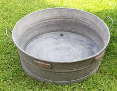 Galvanised Round Tub #1