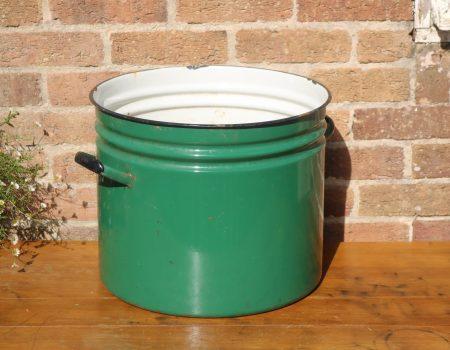 Green Enamel Tub #26