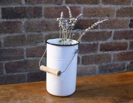 White Enamel Churn #9