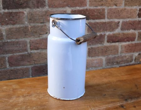 Pale Blue Enamel Churn #12