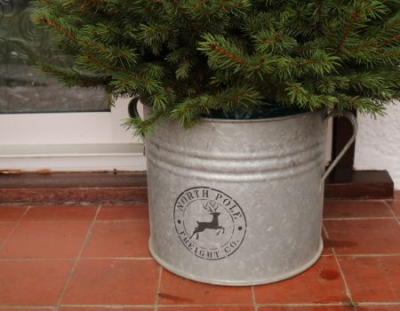 Christmas Galvanised Tub #2