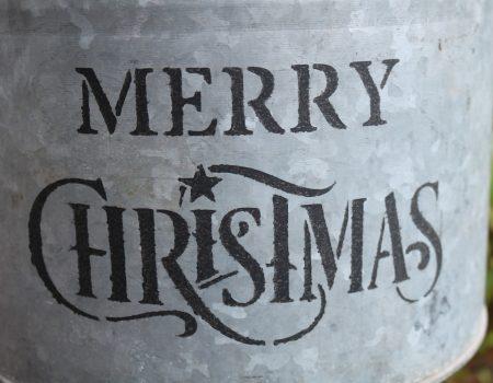 Stencil Artwork – Merry Christmas