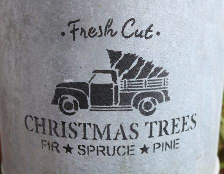 Stencil Artwork – Fresh Cut Trees