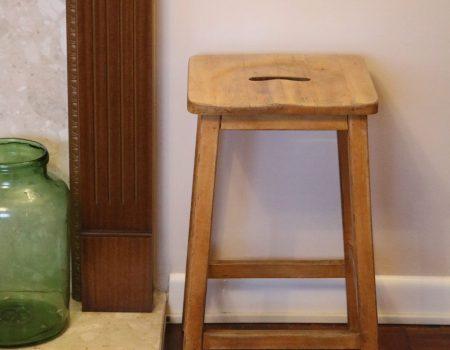 Wooden Art Stool #2
