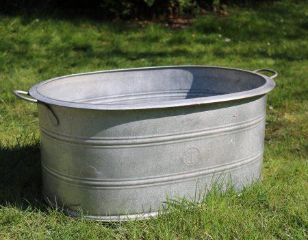 Straight edged oval tub #64