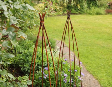 Pair of Small Wigwam Obelisks