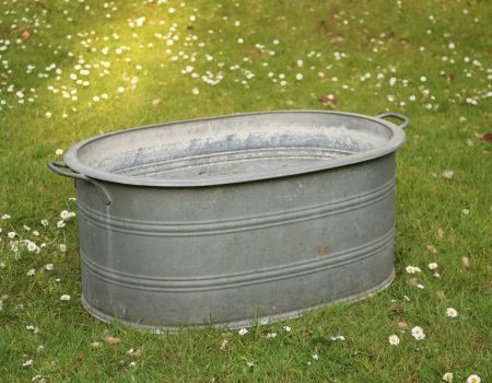 Galvanised Oval Tub #126