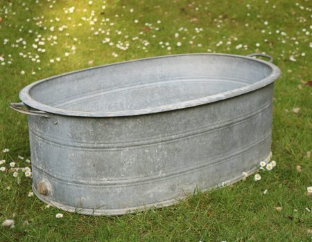 Galvanised Oval Tub #127