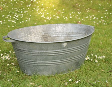 Galvanised Oval Bath Tub #128