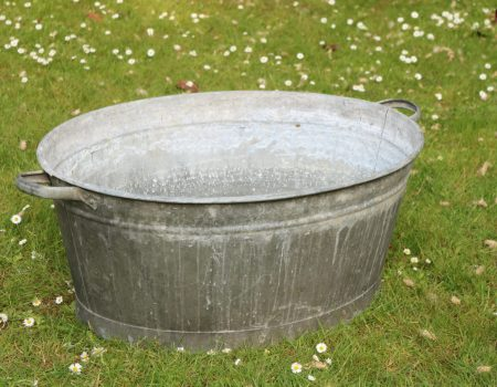 Galvanised Oval Bath Tub #129