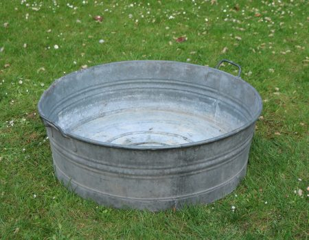 Galvanised Round Shallow Tub #20