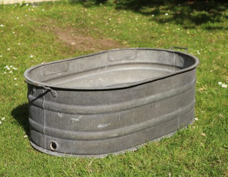 Galvanised Oval Tub #140
