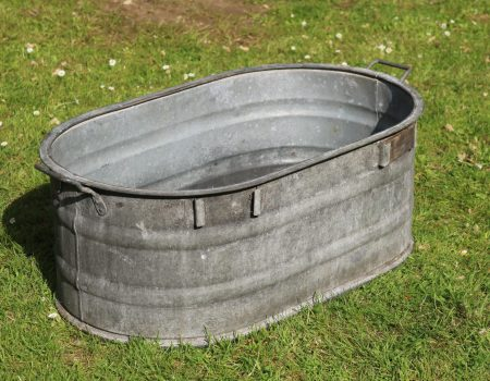 Galvanised Oval Tub #141