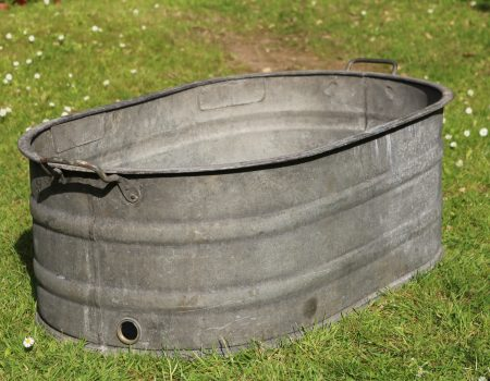Galvanised Oval Tub #142