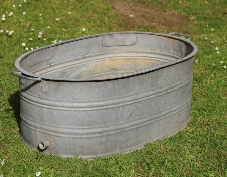 Galvanised Oval Tub #144