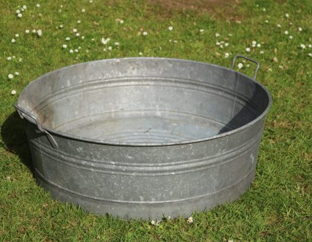 Galvanised Round Shallow Tub #21