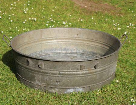 Galvanised Round Shallow Tub #23