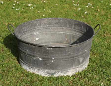 Galvanised Round Shallow Tub #25