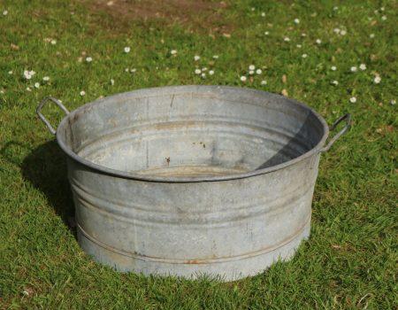 Galvanised Round Shallow Tub #26