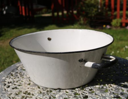 Small White Enamel Tub #3