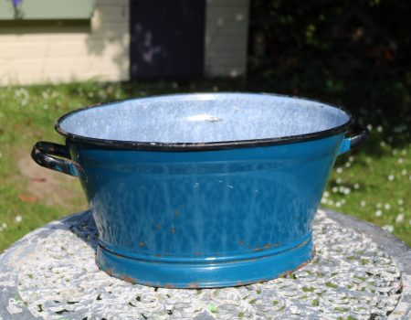 Small Teal Enamel Tub #149