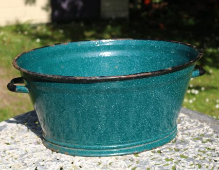 Small Teal Enamel Tub #150